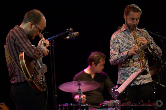Festival JAZZ360 2015, Pierre Perchaud, Christophe Panzani; Jean-Claude Oleksiak Quartet, Cénac. 13/06/2015