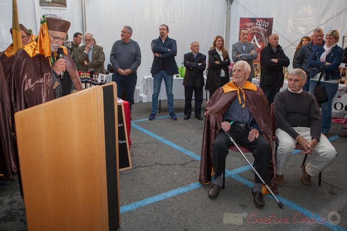 Jean-Marc Rigo prononce le discours d'intronisation de Mario Rigo, son oncle
