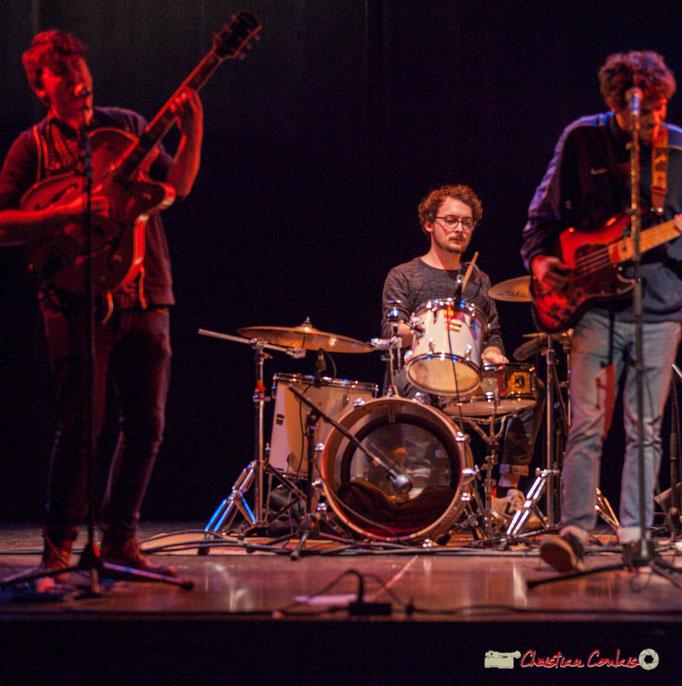 Hugo Buret, Quentin Daney, Cameron Williams; Wonkey. Soirée musicale, Association des Musiques et des Arts de Cénac, 03/02/2018