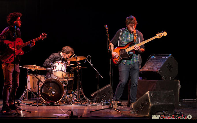 Cameron Williams, Quentin Daney, Hugo Buret; Wonkey. Soirée musicale, Association des Musiques et des Arts de Cénac, 03/02/2018