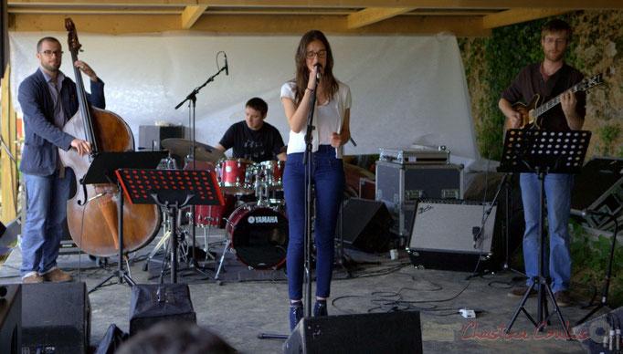 HCL Trio; Aurélien Gody, Hugo Raducanu, Clément Laval, invitent Laure Sanchez. Festival JAZZ360 2013, Quinsac, 09/06/2013