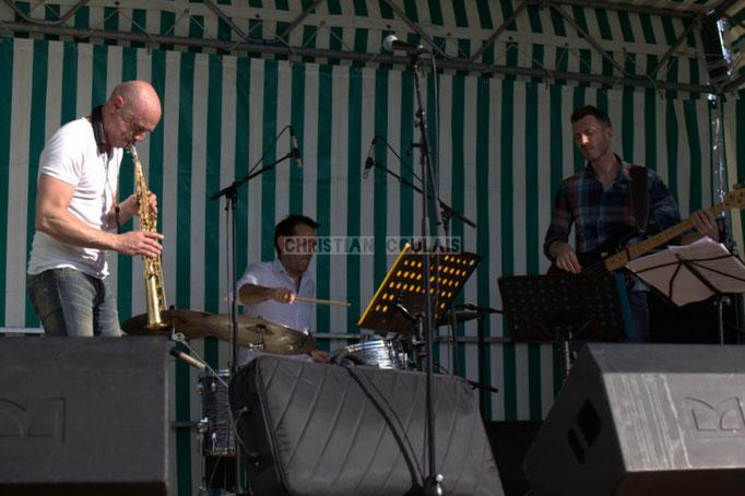 Festival JAZZ360 2014, Guillaume Schmidt, Didier Ottaviani, Benoît Lugué; EBop Quartet, Cénac. 07/06/2014