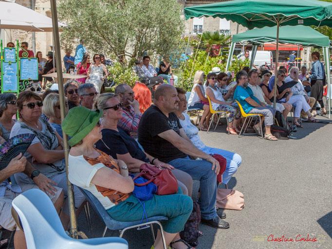 Un Festival JAZZ360 2017 sous un soleil de plomb, un public qui recherche l'ombre. Latresne. 11/06/2017