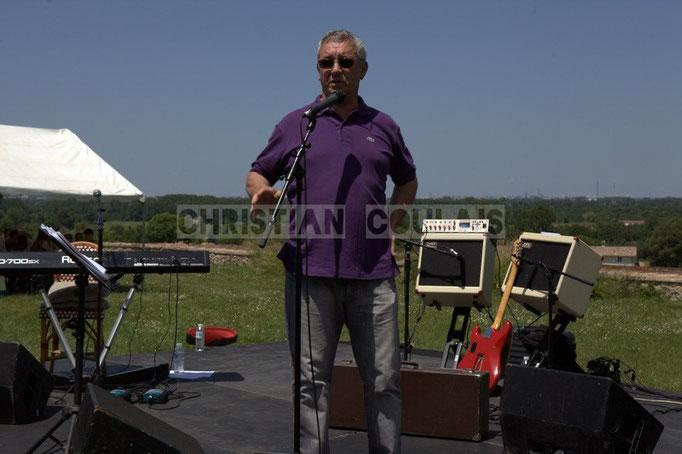 Bernard Capdepuy, élu à Quinsac, en charge du Festival JAZZ360 2014, château Lestange, Quinsac. 08/06/2014