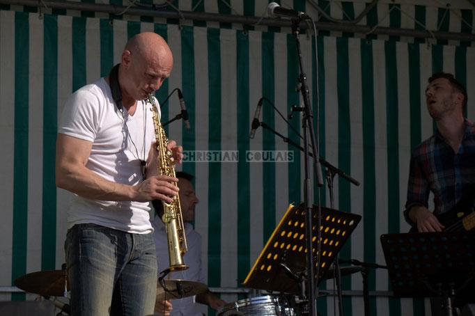 Festival JAZZ360 2014, Guillaume Schmidt, Benoît Lugué; EBop Quartet, Cénac. 07/06/2014