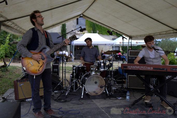 Festival JAZZ360 2015, Charlie Dufau, Julien Lavie, Julien Bouyssou; Electro Boots. Château Lestange, Quinsac. 14/06/2015