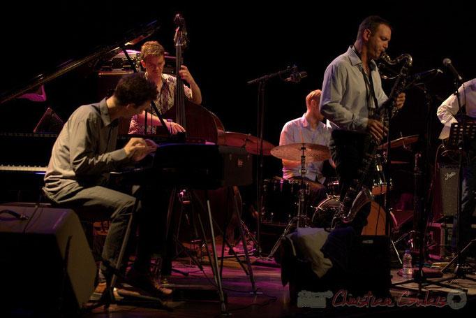 Festival JAZZ360 2015, Pierre de Bethmann, Stéphane Kerecki, Thomas Savy; Thomas Savy Quintet. Cénac, 13/06/2015