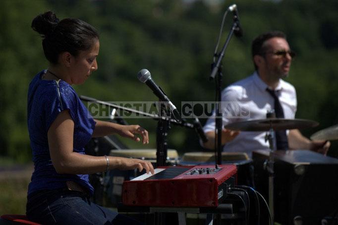 Valérie Chane-Tef, Franck Leymeregie; Akoda Quintet, Festival JAZZ360 2014, Quinsac. 08/06/2014