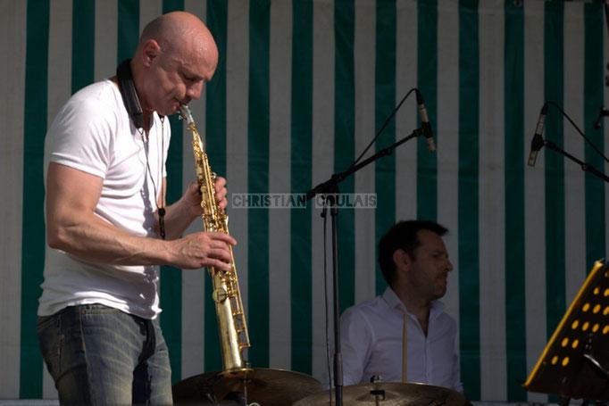 Festival JAZZ360 2014, Guillaume Schmidt, Didier Ottaviani; EBop Quartet, Cénac. 07/06/2014
