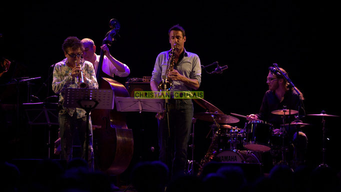 Festival JAZZ360 2014, Freddy Buzon, Iazid Ketfi, Thomas Lachaize, Simon Pourbaix; Asix Quintet, Cénac. 06/06/2014