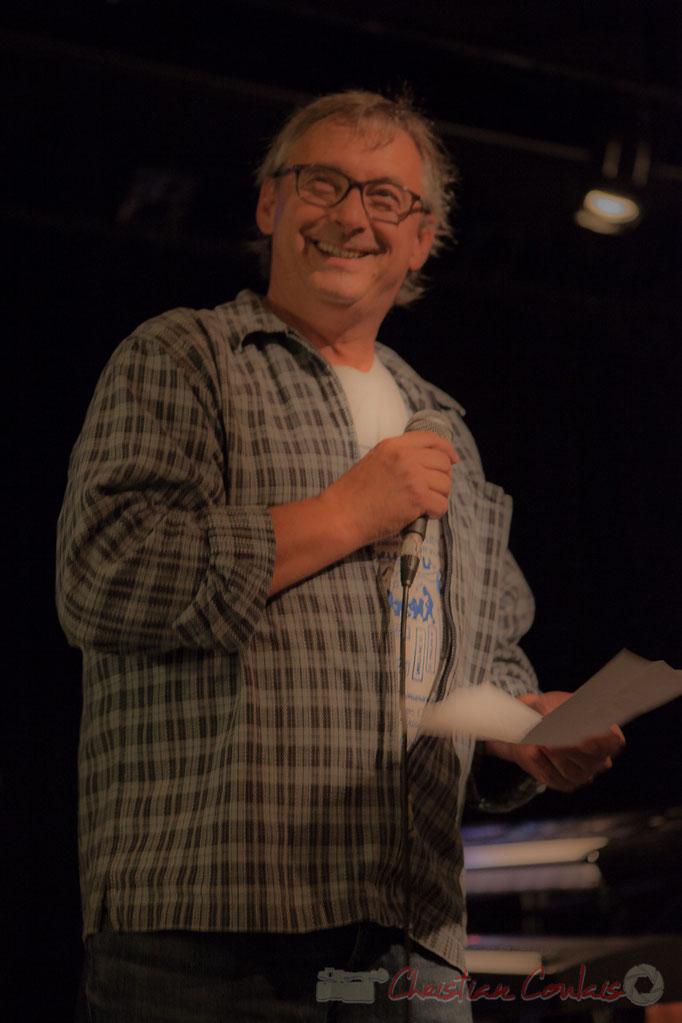Richard Raducanu heureux de la réuissite de la soirée cabaret JAZZ360, Cénac, Gironde