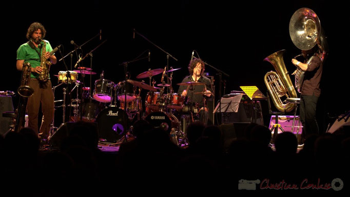 Grat Martinez, David Muris, Damien Bachère; Manguidem Taf Taf Trio, Festival JAZZ360 2012, Cénac. 09/06/2012