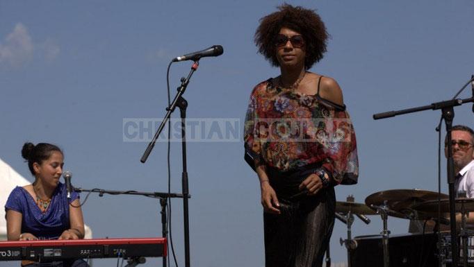 Valérie Chane-Tef, Mayomi Moreno, Franck Leymeregie; Akoda Quintet, Festival JAZZ360 2014, Quinsac. 08/06/2014