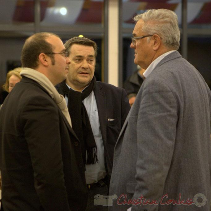 Christophe Miqueu, Membre du bureau du Front de gauche, Pascal Lafargue, Président d'Emmaüs Gironde, Jean-Marie Darmian