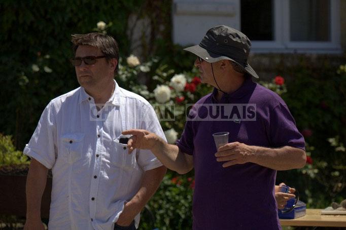 Patrick Perez et Bernard Capdepuy, élus de Quinsac, en charge du Festival JAZZ360