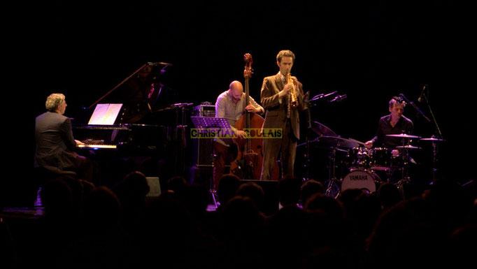 Festival JAZZ360 2014, Giovanni Mirabassi, Mauro Gargano, Christophe Laborde, Louis Moutin; Christophe Laborde Quartet feat Giovanni Mirabassi. Cénac, 06/06/2014