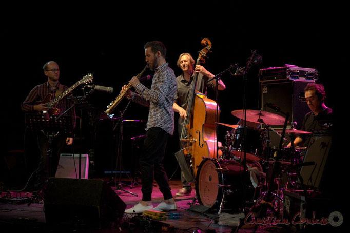 Festival JAZZ360 2015, Pierre Perchaud, Christophe Panzani, Jean-Claude Oleksiak, Antoine Paganotti; Jean-Claude Oleksiak Quartet, Cénac. 13/06/2015