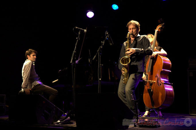 """Paul Lay, Frédéric Borey, Nolwenn Leizour; Frédéric Borey """"Lines"""" Quartet, Festival JAZZ360 2012, Cénac. 08/06/2012"""