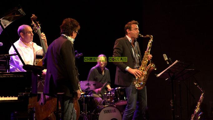 Festival JAZZ360 2014, Iazid Ketfi, Freddy Buzon, Simon Pourbaix, Thomas Lachaize; Asix Quintet, Cénac. 06/06/2014