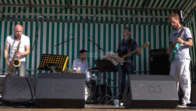 Festival JAZZ360 2014, Guillaume Schmidt, Didier Ottaviani, Benoît Lugué, Christophe Maroye; EBop Quartet, Cénac. 07/06/2014