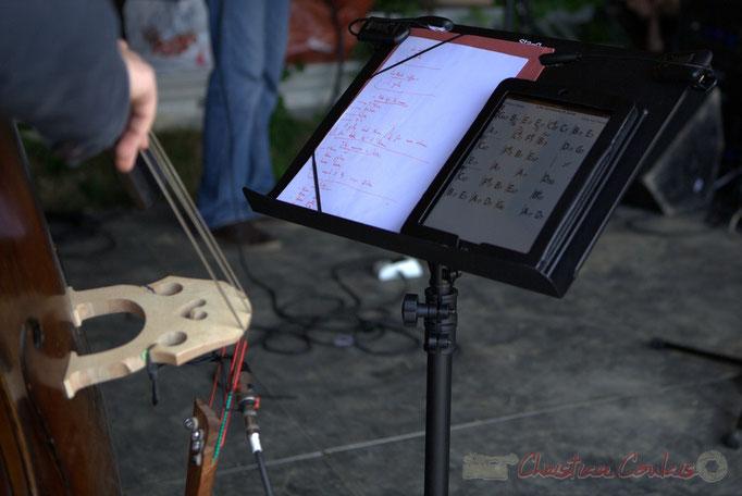 Partitions numériques d'Aurélien Gody, HCL Trio, Festival JAZZ360 2013, Quinsac. 09/06/2013