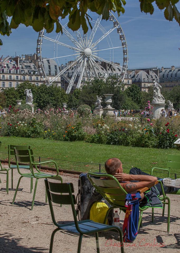 """""""Pause sous le Grand Couvert"""", Jardin des Tuileries, Paris 1er"""