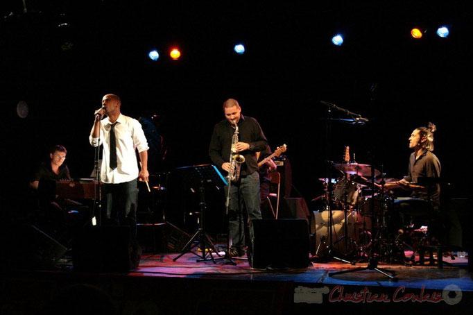 Xavier Duprat, Marco Codjia, Denis Guivarc'h, Vincent Sauve; Fada. Festival JAZZ 2010, Cénac. 14/05/2010