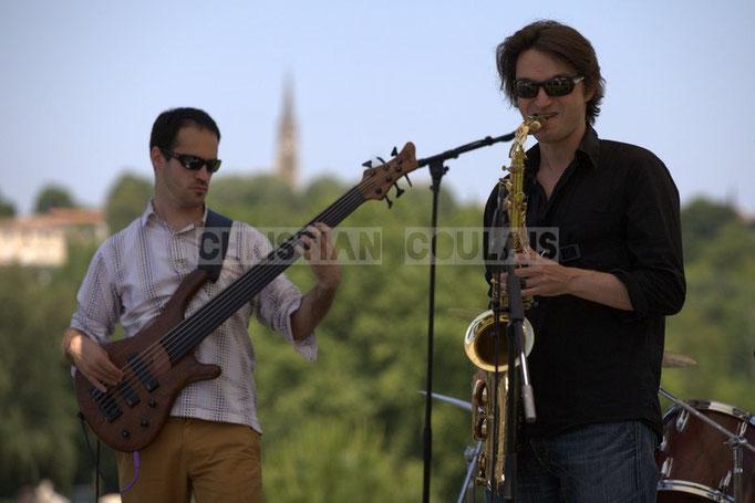 Julien Paoletti, Gaël Lafleuriel; Mil&Zim Jazz, Festival JAZZ360 2014, Quinsac. 08/06/2014
