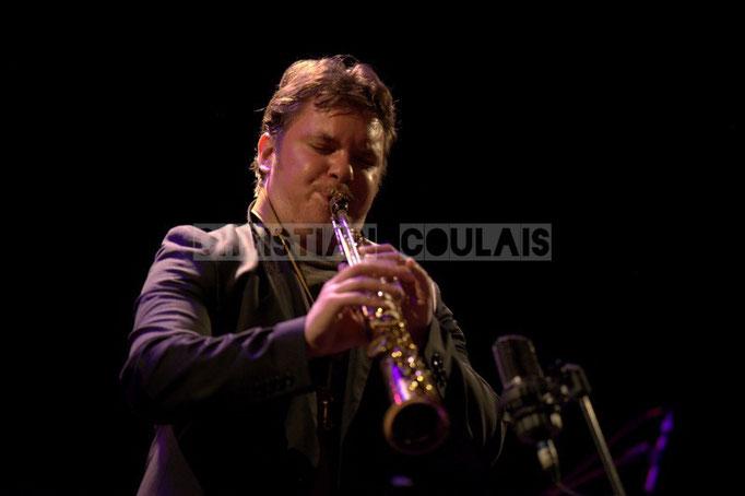 Baptiste Herbin; Baptiste Herbin Quartet feat André Ceccarelli, Festival JAZZ360 2014, Cénac. 07/06/2014