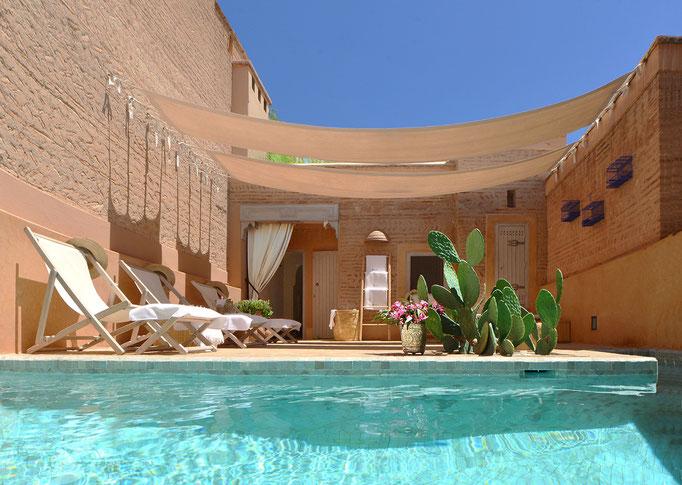 Location riad de charme marrakech avec piscine et hammam - Location maison avec piscine marrakech ...