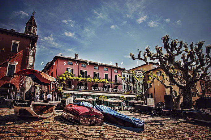"""Ascona, Switzerland. A little bit of """"la dolce vita"""" on the shores of Lago Maggiore in the Italian speaking canton (state) of Tessin/Ticino in the south east corner of the country. The majority of this lake is located in Italy."""