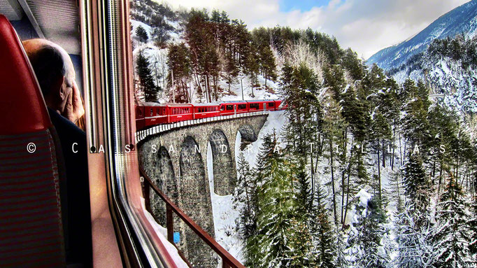 One of the luckiest photos I've ever taken. The Landwasser Viaduct near Filisur GR, can be found on the Unesco World Heritage registered Albula Line of the Rhaetian Railway (RhB).