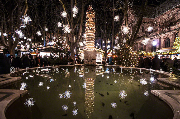 Christmas market at Münsterplatz in Basel.