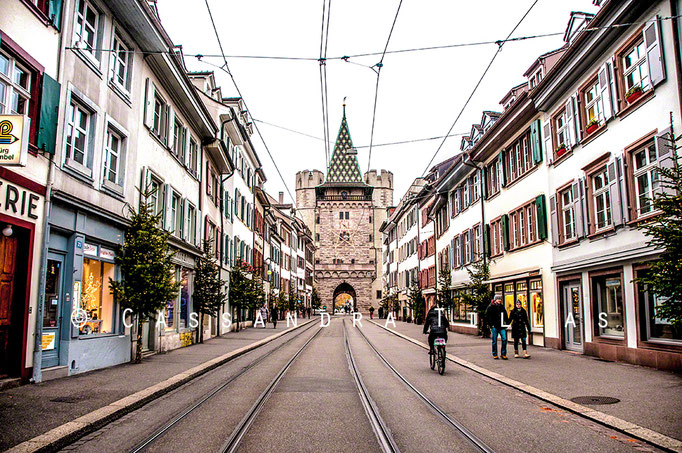 The Spalentor, the largest of the three remaining city gates of Basel, and one of the most beautiful in Switzerland.