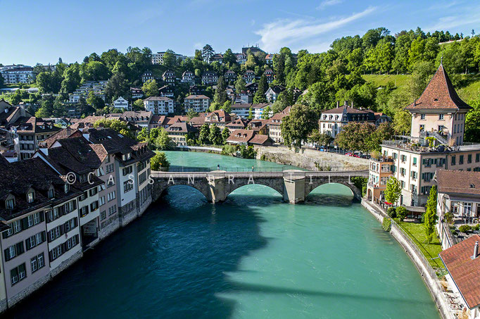 This is Bern and the Aare River.