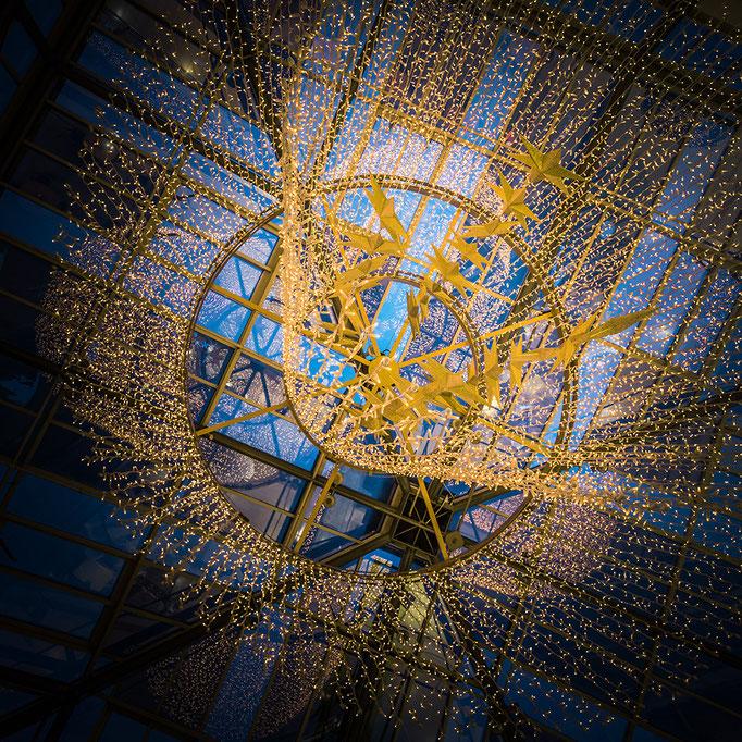 Weihnachtsdekoration im Saarparkcenter