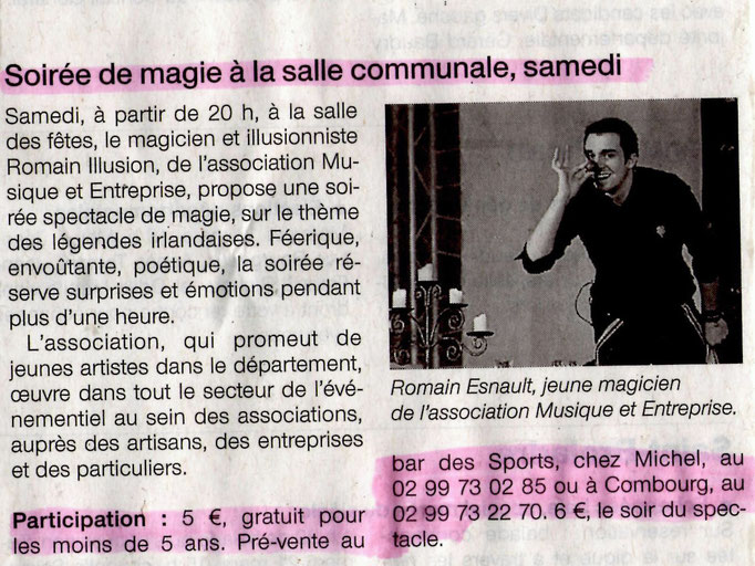 Ouest France Mars 2015