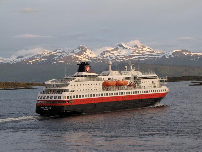 Unser Hurtigruten-Schiff in Norwegen