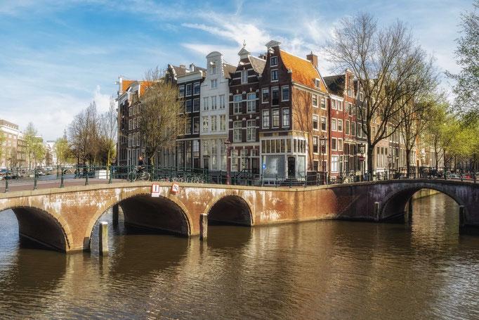 Amsterdam. Herrenhäuser an der Keizersgracht.