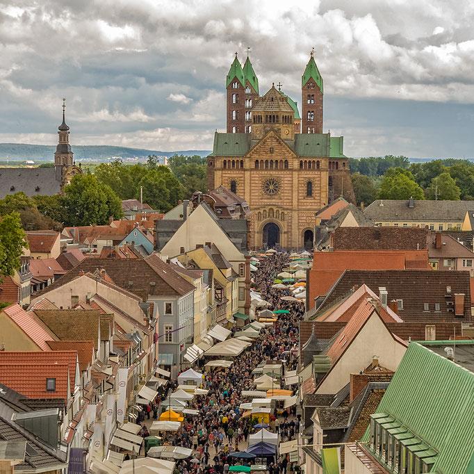 Speyer. Blick auf den Dom vom Altpörtel.