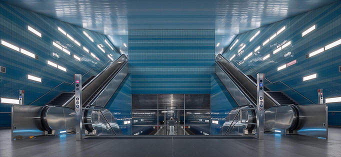 Hamburg. U-Bahn-Station Überseehafen.