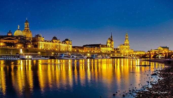 Dresden. Blick auf die Altstadt.