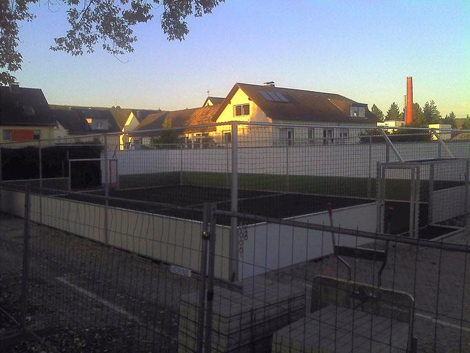 Blick auf den Soccer-Court