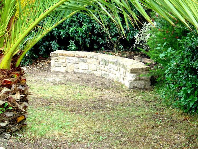 Banc de pierres