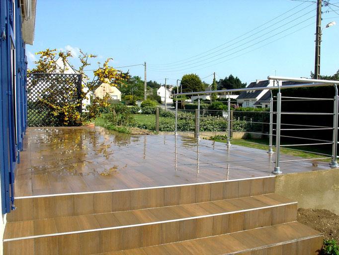 Terrasse + balustrade