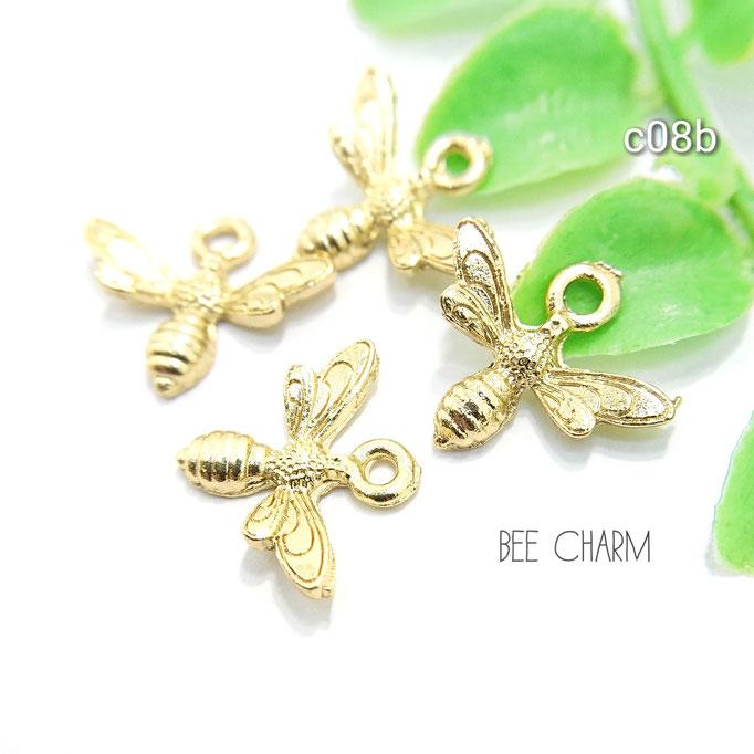 送料無料☆4個☆HONEY BEE☆蜂のチャーム【c08b】