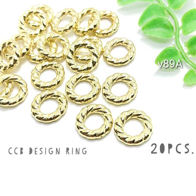 20個☆CCB-デザインリング*スペーサー☆Aタイプ 約15.5mm【v89A】