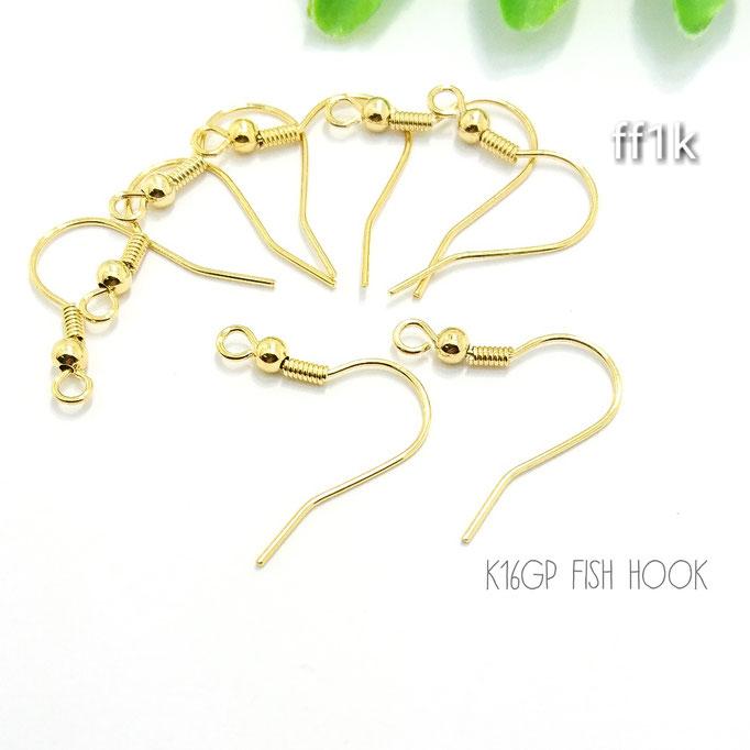 5ペア10本☆高品質k16gp☆フィッシュフック☆【ff1k】
