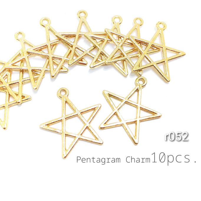 訳アリ 10個 星の空枠チャーム レジンフレーム【r052】