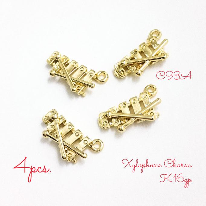 4個☆K16GP☆木琴のミュージックチャーム☆高品質【c93a】